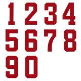 背上的号码徽章 20cm尺寸贴花,数字号码盒,体育的向制服!【邮件投递OK】[背番号ワッペン 20cmサイズ アップリケ、数字ナンバー入れ、スポーツのユニフォームに!【メール便OK】]
