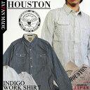 ヒューストン インディゴワークシャツ