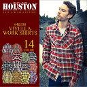ネルシャツ 2015新作『HOUSTON/ヒューストン』 40108 Viyella Work Shirt / ビエラ ワークシャツ -全14色-「ネルシャツ」「フランネル」「アメカジ」「長袖」「チェックシャツ」「ヘビーオンス」「厚手」「ヴィエラ」【チケット対象】[40108]