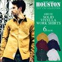 HOUSTON 2015新作『HOUSTON/ヒューストン』 40110 SOLID VIYELLA WORK SHIRT / ソリッド ビエラ ワークシャツ ...