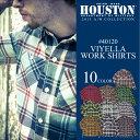 ネルシャツ 2015新作『HOUSTON/ヒューストン』 40120 Viyella Work Shirt / ビエラ ワークシャツ -全10色-「ネルシャツ」「フランネル」「アメカジ」「長袖」「チェックシャツ」「ヘビーオンス」「厚手」「ヴィエラ」【チケット対象】[40120]