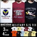 プリントTシャツ 2016 S/S『HOUSTON/ヒューストン』 21164_67_68 MILITARY S/S TEE / ミリタリー 半袖 Tシャツ -...