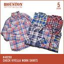 チェックシャツ 2017 S/S『HOUSTON/ヒューストン 』40259 CHECK VIYELLA WORK SHIRTS / チェック ビエラ ワークシャツ -全5色-「アメカ..