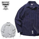 2019A/W『HOUSTON/ヒューストン』40625 STRIPE VIYELLA SHIRT / ストライプビエラシャツ -全2色-/ワーク/ヴィンテージ/ユニオンチケッ..