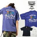2020S/S『HOUSTON/ヒューストン』40666 BOWLING SHIRT (SHINE) / ボウリング シャツ (シャイン) -全3色- / ボーリング / 刺繍 / アメカ..