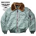 【国産】フライトジャケット『HOUSTON/ヒューストン』 5003 B-15D FLIGHT JACKET/B-15Dフライトジャケット-セージグリーン-/日本製/mad..