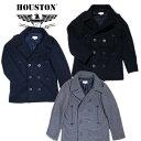 『HOUSTON/ヒューストン』 50215 USN PEA COAT / USN ピーコート -全3色- 「日本製」「ミリタリー」「アメカジ」「MILITARY」「防風」..