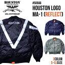 『HOUSTON/ヒューストン 』45周年記念モデル 50566 HOUSTON LOGO MA-1 REFLECT / ヒューストン ロゴ MA-1 [リフレクト] -全3色-/アメ..