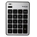 エレコム テンキーボード Bluetooth パンタグラフ Mac対応 薄型 シルバー TK-TBPM01SV[cb]