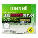 maxell Ͽ���� CPRM�б� DVD-R DL 215ʬ 8��®�б� �������åȥץ���б��ۥ磻��(�磻�ɰ���) 20�� 5mm�������� DRD215WPB.20S