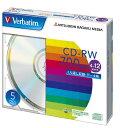 三菱ケミカルメディア Verbatim くり返し記録用 CD-RW SW80EU5V1 (4-12倍速/5枚)