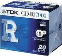 TDK CD-Rデータ用700MB 48倍速 5mm厚ケース入り20枚パック CD-R80TFX20S