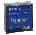 SONY 2HD フロッピーディスク DOS/V用 Windowsフォーマット 3.5インチ ブラック 10枚入り 10MF2HDQDVB