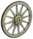 コバアニ模型工房 1/24 スウィートスタイルシリーズ 荷車の車輪 2ヶ入 組立キット SS-015