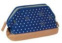 (ティーアンドティーコーポレーション)T&T CORPORATION pouch ポーチ ドット ブルー 31213-00