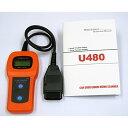 OBD2 MINI スキャンツール OBD2 U480 コードスキャナー 故障診断機 CAN コードリーダー  A0327U