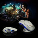 有線光学式マウス ゲームマウス 有線レーザー式ゲーミングマウ...