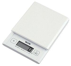 タニタ デジタルクッキングスケール 1kg ホワイト KD-180-WH