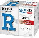 TDK CD-R 700MB 48X �ۥ磻�ȥ磻�ɥץ�֥� ������ 20�� 5mm���������� CD-R80PWDX20B