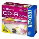 maxell データ用 CD-R 700MB 48倍速対応 インクジェットプリンタ対応パールホワイト(ワイド印刷) 10枚 5mmケース入 CDR700S.WPP.S1P10S