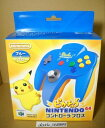 ピカチュウN64コントローラ ブルー N64