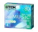 TDK CD-R 音楽用 80分 カラーミックス インクジェットプリンタ対応 5枚パック CD-RDE80CPMX5N