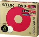 TDK データ用DVD-R DL(8.5GB) ホワイトワイドプリンタブル 2-8倍速 日本製 5mmスリムケース 5枚パック DR85PWB5S