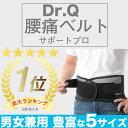 【信頼の楽天ランキング1位】◆Dr.Q 腰痛ベルト◆腰痛でお悩みの方に Wのベルトでしっかり固定 腰