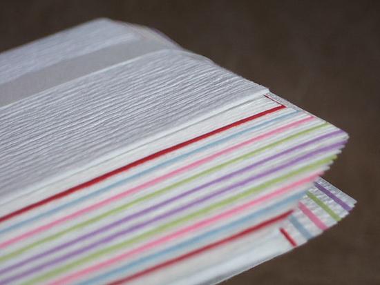 (炭手前に)福井県 無形文化財保持者 山崎吉左衛門作 檀紙製 五色紙釜敷