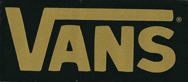 【メール便対応】 VANS LOGO BLACK/GOLD!