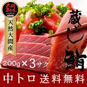 大間マグロ 中トロ 200g×3柵 |青森県大間産 大間のまぐろ本マグロ刺身セット送料無料