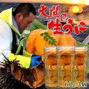 うに 生うに60g×3個 |大間漁師の生ウニ 瓶詰め[約1人前×3個]青森県大間産 ムラサキウニ ビ