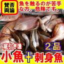 9月中旬〜下旬発送小魚宝箱魚えーっセット パート2小魚とお刺身用のお魚2品