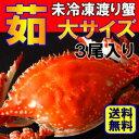 茹でワタリガニ【メス】大サイズ3尾送料無料