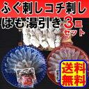 魚屋が作るふぐ刺しコチ刺しハモ湯引き3皿セット 送料無料【ふぐ,フグ,河豚,てっさ】