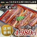 愛知県三河産うなぎ蒲焼長焼き2尾(1尾約125g)さらにきもすい・しじみ汁各2パック付き!外は香ばし