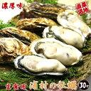 あす楽対応 牡蠣 殻付き 生食用 30個入り 値下げ 【送料