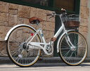 Lupinus / ルピナス 安い 人気 ママチャリ 266VA 100%完成車 26インチ 自転車 軽快車 子供 女性でも乗りやすい 乗り降りらくらく 子乗..