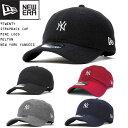 NEW ERA ニューエラ キャップ サイズ調整 9TWENTY ミニロゴ メルトン MLB NY ニューヨークヤンキース 帽子 刺繍 UNISEX メンズ レディ..