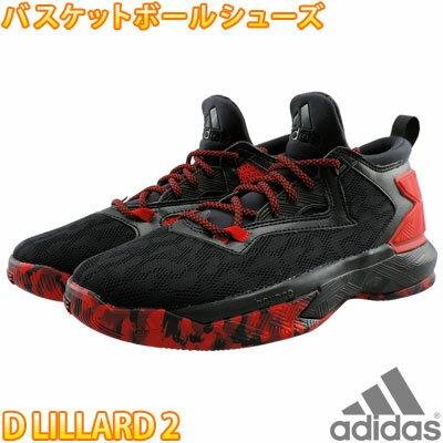 adidas D LILLARD 2 アディダス Dリラード 黒赤 バスケットシューズ バッシュ スニーカー B42387