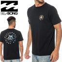 ビラボン メンズ Tシャツ WHERE ITS FINE 半袖 ブランドロゴ 黒色 USAコットン BA011207 ブラック