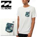 ビラボン ポケT メンズTシャツ 半袖 白Tee AI011221 サーフブランド セルビー