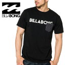 Tシャツ ビラボン 半そで メンズ ブランドロゴ 胸ポケット レギュラーフィット 黒色 ブラック AI011267