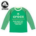 ジュニア ロンT (140〜160cm) クロックス 145113 crocs キッズ 長袖 Tシャツ 長そで ラグランTシャツ ユース