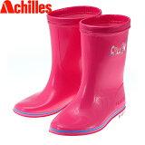 レインブーツ キッズ 軽い ショート 女の子 ピンク 長靴 アキレス OCB0590 日本製