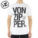 楽天ユーピースポーツ楽天市場店セール VONZIPPER AG211240 ボンジッパー メンズ ロゴTシャツ 白 半袖Tシャツ ビッグロゴ
