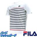 FILA 水陸両用シャツ アクアTシャツ フィラ メンズ半袖ラッシュガード 426-294 通販 販売 メンズ水着 人気ブランド ウォーターTシャツ 吸水速乾シャツ