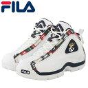 ショッピングバスケットシューズ フィラ グラントヒル 2 パッチワーク メンズ スニーカー FILA 1BM01091 ホワイト