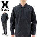 【セール】ハーレー メンズジャケット HURLEY ブルゾン コーチジャケット MJK0001110 黒 ブラック トップス