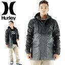 セール HURLEY ミリタリージャケット 黒 フード付きジャケット 撥水加工 ツートンカラー ハーレー MJK0001750